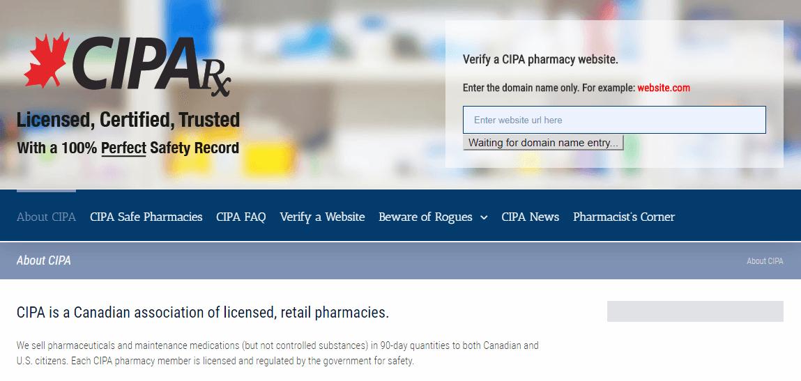 CIPA Website Homepage