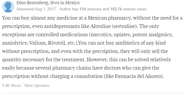 Mexican prescription Meds
