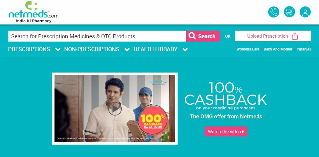 Net Meds Homepage