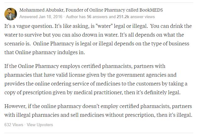 Legit Online Pharmacy Testimonial