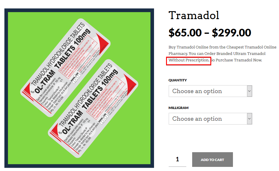 Tramadol Online No Prescrip – Is it Possible to Get Tramadol Without Rx