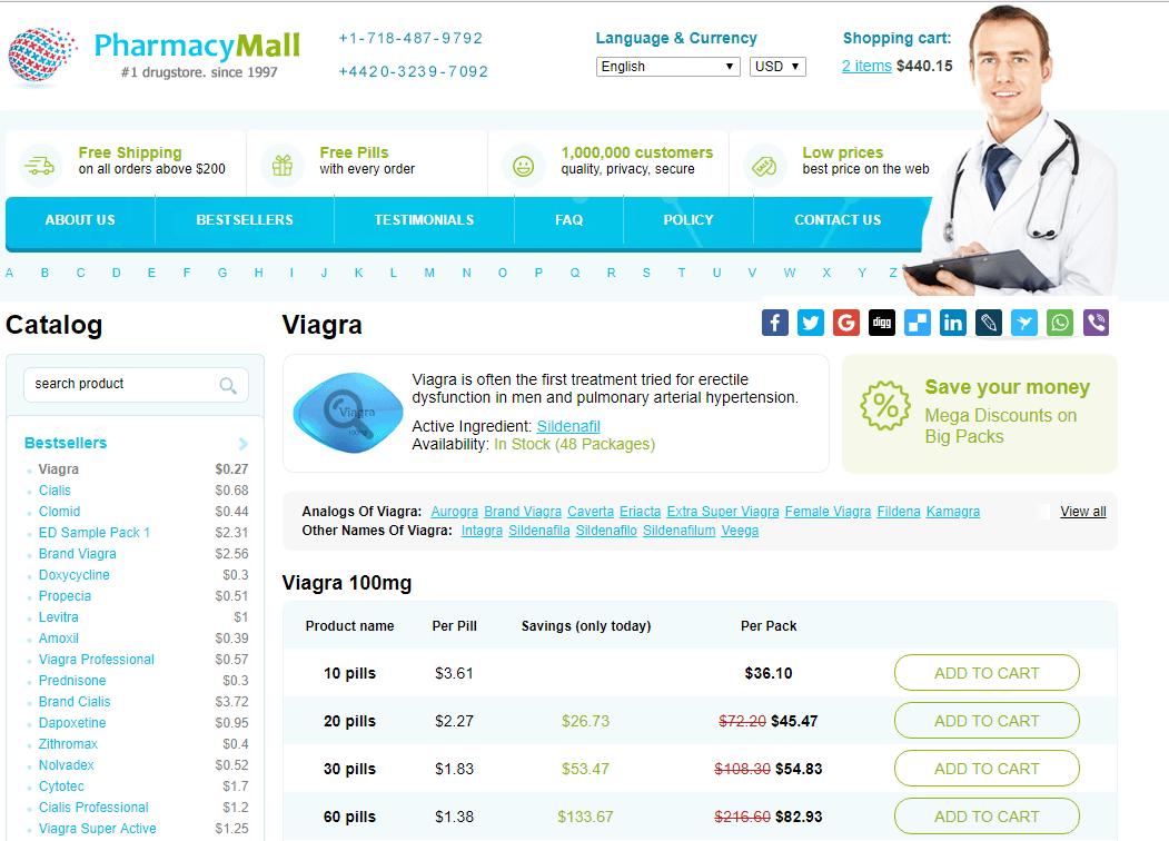 Pharmacy Mall Generic Viagra